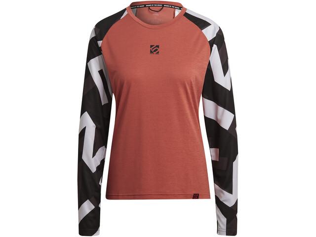 adidas Five Ten THE 5.10 Trail Langarm T-Shirt Damen crew red/sand